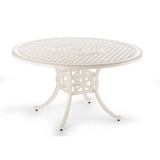 Carlisle Round Cast-top Dining Table in Parisian Ivory Finish