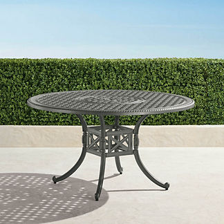 Carlisle Round Cast-top Dining Table in Slate Finish