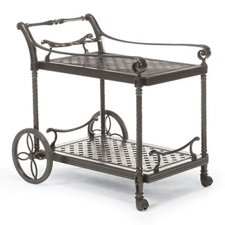 Carlisle Serving Cart in Slate Finish
