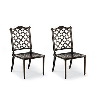 Glen Isle Set of Two Side Chairs in Midnight Gold