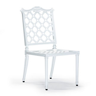 Glen Isle Set of Two Dining Side Chairs in White Finish
