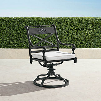Carlisle Set of Two Swivel Dining Arm Chairs in Onyx Finish
