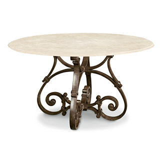 Maison Jardin Stone-top Round Dining Table