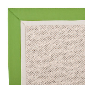 Outdoor Parkdale Rug in Sunbrella Gingko/Oyster White Wicker