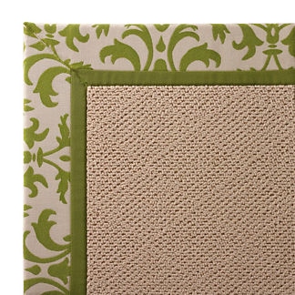 Outdoor Parkdale Rug in Sunbrella Softly Elegant Gingko White Wicker