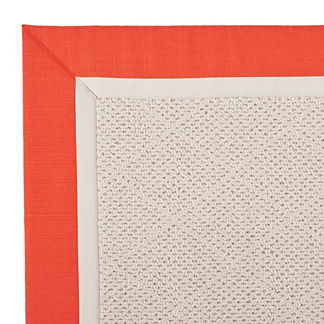 Outdoor Parkdale Rug in Sunbrella Sangria/Oyster White Wicker