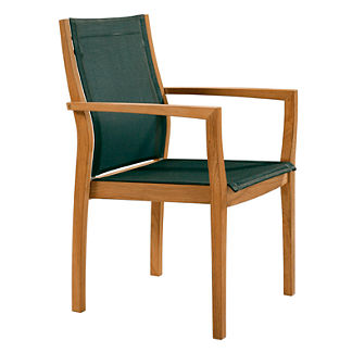Horizon Teak and Sling Dining Chair