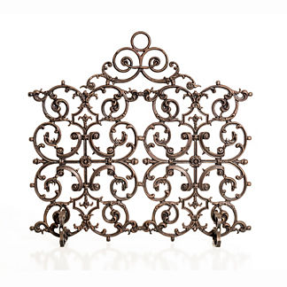 Classic Two Panel Cast Iron Fireplace Screen with Arch
