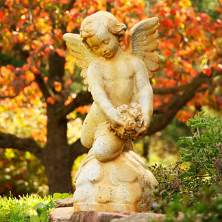 Angel with Roses Garden Statue