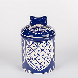 Hand Painted Ceramic Azul Treat Jar