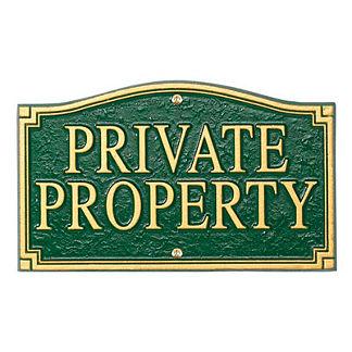 Private Property Plaque