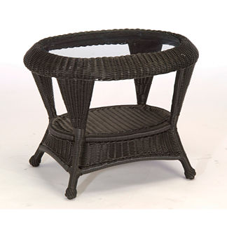 Classic Wicker Side Table by Summer Classics