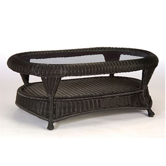 Classic Wicker Coffee Table by Summer Classics
