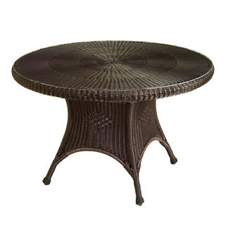 Classic Wicker Round Dining Table by Summer Classics