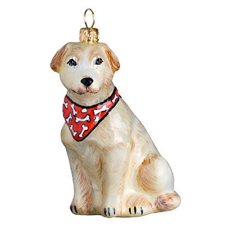 Yellow Labrador Retriever Ornament