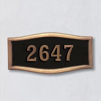 Ethan Address Plaque Large