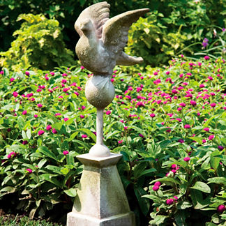 Dove in Flight Finial Statue