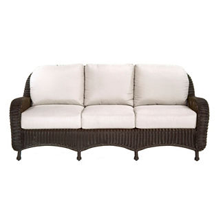 Classic Wicker Sofa with Cushions by Summer Classics