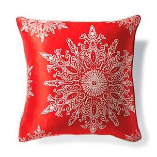Red Snowflake Pillow