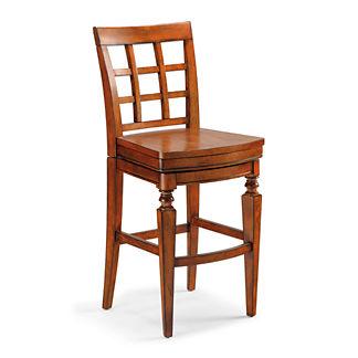 Napa Wooden Seat Swivel Bar Height Bar Stool (28-1/2