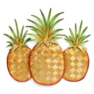 Pineapple Trio Wall Decor by Copper Art