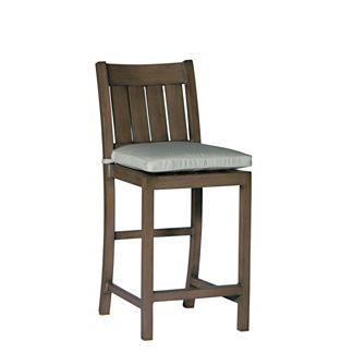 Croquet Aluminum Counter Height Bar Stool with Cushion by Summer Classics (24