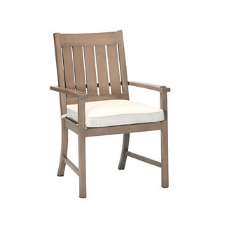 Croquet Aluminum Dining Arm Chair with Cushion by Summer Classics