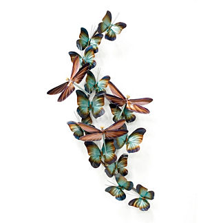 Medium Dragonflies and Butterflies Wall Art by Copper Art