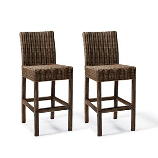 Hyde Park Set of Two Backed Bar Stools