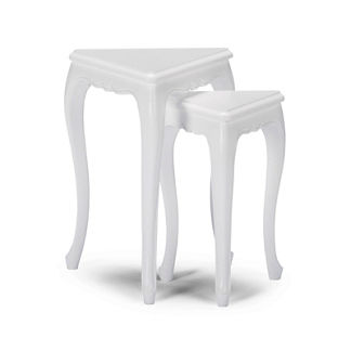 Triangle Nesting Side Tables, Set of Two