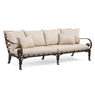 Maison Jardin Sofa with Two Throw Pillows