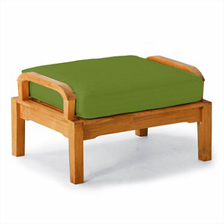 Replacement Ottoman Cushion in Sunbrella Gingko