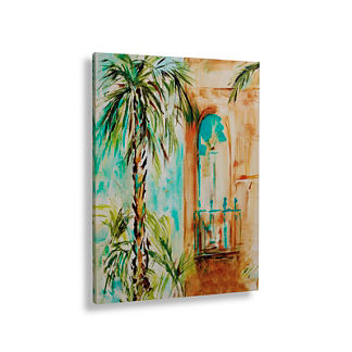 Single Palm Savannah Canvas Wall Art