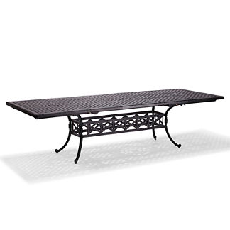 Carlisle Extending Cast-top Dining Table in Onyx Finish