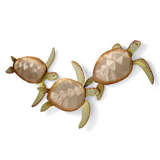 Sea Turtle Trio Wall Decor by Copper Art