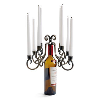 Eight-taper Wine Bottle Candelabra