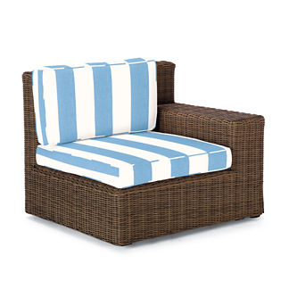 Hyde Park Right-facing Arm Chair with Cushions