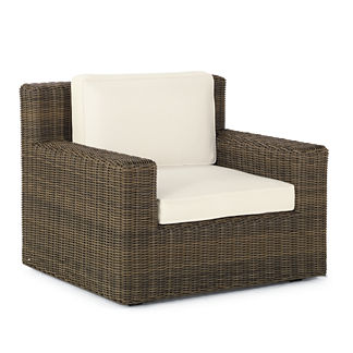 Hyde Park Lounge Chair with Cushions in Ocean Grey Finish, Special Order