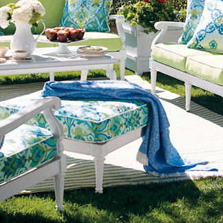 Rjoe Sunbrella Chenille Outdoor Throw