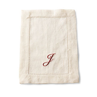SFERRA Festival Set of 4 Monogrammed Cocktail Napkins