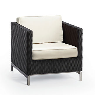 Metropolitan Lounge Chair with Cushions in Panther Finish, Special Order