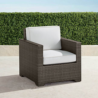 Palermo Balcony Lounge Chair with Cushions in Bronze Finish, Special Order