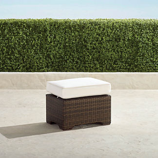 Palermo Balcony Ottoman with Cushion in Bronze Finish, Special Order