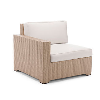 Palermo Left-facing Chair with Cushions in Linen Finish