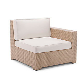 Palermo Right-facing Chair with Cushions in Linen Finish