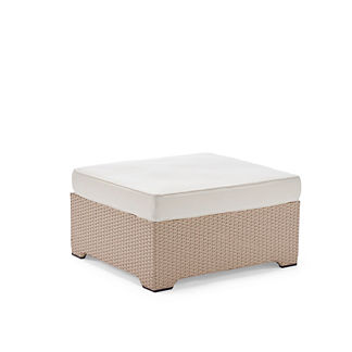 Palermo Ottoman with Cushion in Linen Finish