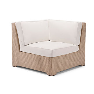 Palermo Corner Chair with Cushions in Linen Finish, Special Order
