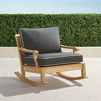 Cassara Rocking Lounge Chair with Cushions in Natural Finish