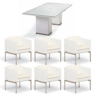 Metropolitan 7-pc. Dining Set in White Finish