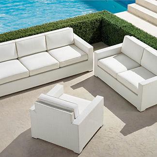 Palermo 3-pc. Sofa Set in White Finish